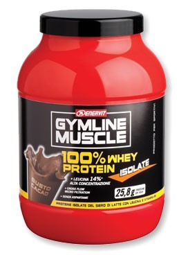 GymLine Muscle 100% Whey Protein Isolate gusto Cacao