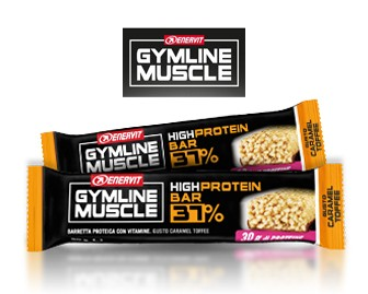 GymLine Muscle High Protein Bar 37% gusto Caramel Toffee