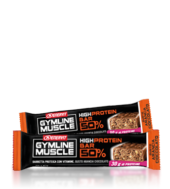 GymLine Muscle High Protein Bar 50% gusto Arancia-Cioccolato