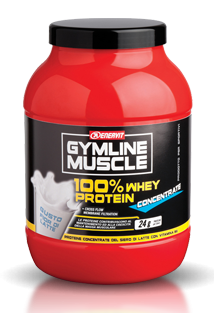 GymLine Muscle 100% Whey Protein Concentrate gusto Fior di Latte 700g