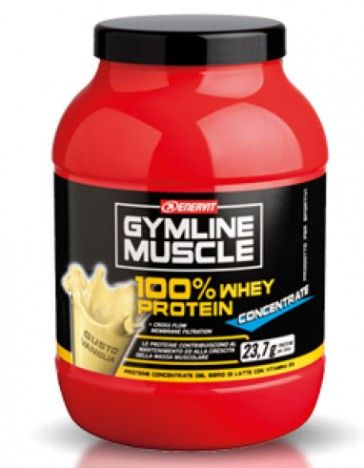 GymLine Muscle 100% Whey Protein Concentrate gusto Vaniglia 700g