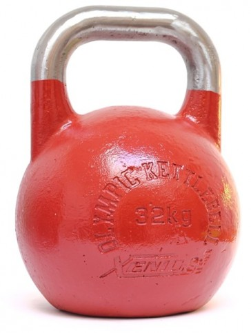 Kettlebell Xenios Olympic acciaio rosso scuro - 32 kg