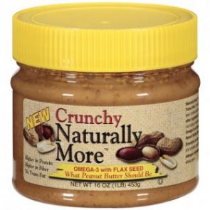 Naturally More Burro d'Arachidi Crunchy 453g