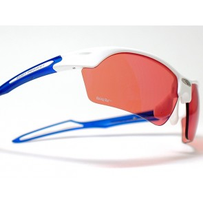 Occhiali da sole Rudy Project Swifty White Gloss/Frozen Blue - Lens Racing Red